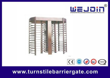 China Swipe Card Full height Access Control Turnstile Gate Safety System 50HZ / 60HZ fabriek