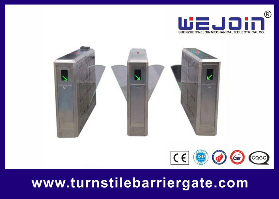 Stainless Steel Flap barrier Gate with Anti-tailing Function For Metro Stations leverancier