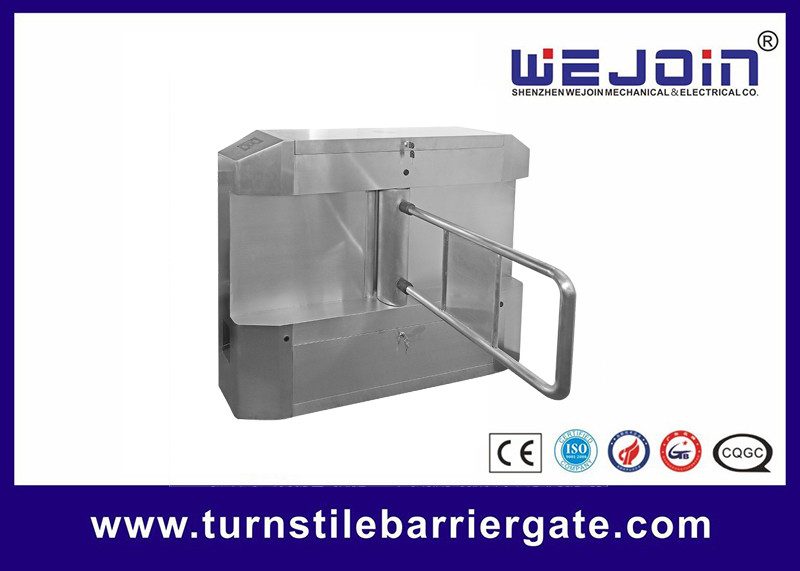 Acrylic plate Arm Turnstile Entry Swing Barrier Gate Systems With Dry Contact Interface leverancier